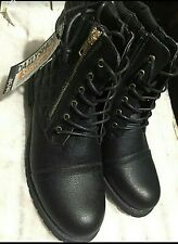 Daily Shoes Women's Military Boots w/ Pocket