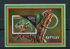 Antigua y Barbuda 2016 estampillada sin montar o nunca montada Reptiles 1v S/S camaleones lagartos sellos