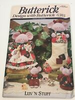 Butterick Sewing Pattern 6383 Crafts Luv 'N Stuff Merry Mice Stocking Christmas