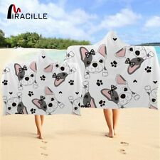 Miracille Gentleman Dog Hooded Towel Cute Microfiber Hooded Towel For Adults