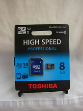 Tarjeta memoria Toshiba Professional microSD 8GB class 10 30 MB/s. UHS-I