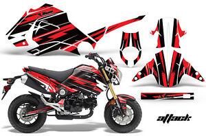Moto Grafica Kit Decalcomania Adesivo Avvolgere Per Honda Grom 125 13-16 Attack