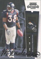 Mike Anderson 2000 Playoff Contenders Rookie Ticket Auto graph #115