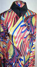 Bright Macaw Parrot Feathers Print Polyester Lycra Stretch ITY Fabric 1 Yd 18 In