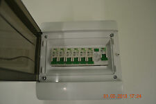 6 Way garage,shed,caravan,workshop consumer unit,distribution board RCD + 6 MCB