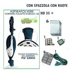 ASPIRAPOLVERE SCOPA ELETTICA VORWERK FOLLETTO VK 135  HD 35  E ACCESSORI GRATIS