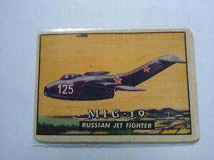 1952 Topps Wings - Friend or Foe # 120 MIG-19 Russian Jet Fighter
