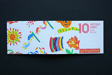 Gb greetings stamp booklet Fy1 with cylinder numbers