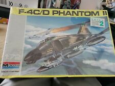 Monogram 1/72 Scale F-4C/D Phantom II Boxed Model Kit 1990