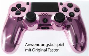 Für Playstation PS4 Controller Case Hülle Gehäuse Chrome Modding Cover Lila