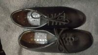 Capezio Theatrical Black Tap Dance Shoes Size 4 & 1/2 Youth, Gently Used
