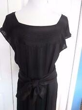 Vintage Christian Dior Pret A Porter size 14-16 silk? black dress Volup