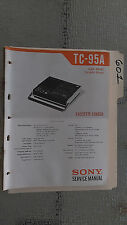 Sony tc-95a service manual original repair book schematic 30 pages