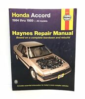 HAYNES MANUAL Honda Accord 1984 - 1989  1850106150 Good used condition