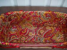 Longaberger~ Crimson Hill Fabric Liner (ONLY) for Long Market Basket