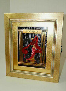 SCORPIO Art Litho Handmade Altered Picture Frame Jewelry Storage - One of a kind