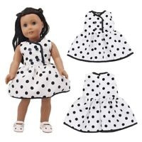 HOT Cute Doll Dress Clothes Outfits Polka Dot Doll Dress 18 inch American Doll