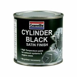 GRANVILLE CYLINDER BLACK PAINT High Temperature Exhaust & Engine cases 100ml