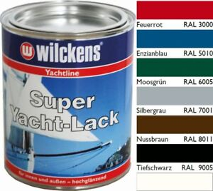 Wilckens Super Yachtlack 750ml Wilckens Lack Bootslack GFK Holz Metall
