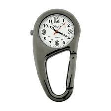 TOC Clip On Doctors Nurses Unisex Carabiner Gun Metal Pocket Fob Watch TOC55