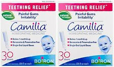 2 Pack Boiron Camilia Teething Relief, 30 Count Ea (0.034 fl oz each)