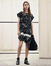 All Saints Roka Willow Dress in Black/Chalk  Size UK 12 BNWT £188