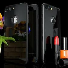 For iPhone 6 7 Plus Case Hybrid 360° Hard Ultra Thin Mirror Tempered Glass Cover