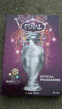 Programm vom Finale Spanien - Italien, EURO 2012, Englisch