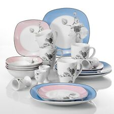 DEBBIE 20-pieces Porcelain Dinner Set Ceramic Tableware Dessert Soup Plate Bowl