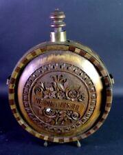 antique Jagdflasche - Black Forest Hunting Bottle carved wood - Adelswappen