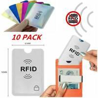 10PCS RFID Sleeve Debit/Credit Card Protector Contactless Blocking Wallet Holder