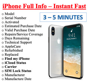 FAST iPhone info Check - IMEI / Simlock / Carrier /Find My Iphone /iCloud Status