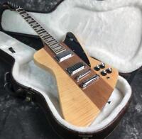 TOp Quality Firebirds Electric Guitar Flamed Maple TOp Neck Thru Body No Brand
