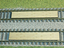2 HO SCALE WOOD RAILROAD CROSSINGS (BOLTED BOARD) LASER ENGRAVED