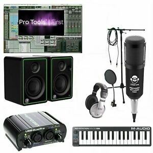 Home Recording Pro Tools Bundle Studio Package Mini 32 Mackie Art Software!