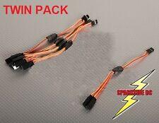 2 x 15cm Y Servo Extension Lead JR Aileron - high grade flexible 26 awg wire
