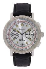 Gigandet Herrenuhr Red Baron IV Uhr Armbanduhr Leder Silber Schwarz G19-006