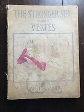 The Stronger Sex As Seen By Vertes  Rare Numbered Limited Edition Art  Book 1941