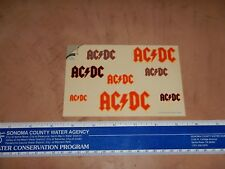 Vintage, Original 1984 Ac/Dc Sticker-Gram By Freezz Frame