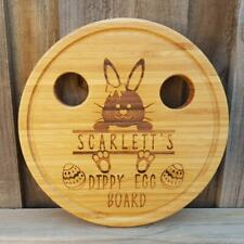 Easter Themed Dippy Egg Board Bunny Design Personalised Bamboo Board Gift