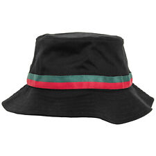 NEW FLEXFIT BUCKET HAT PLAIN COTTON STRIPE SUMMER BEACH CAP Inspired by Gucci ®