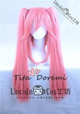Halloween Wig Cosplay FGO Fate/Grand Order cat pink long fashion Hair 2Clips