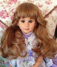 *FLASH SALE* TWO DENISE Doll Wigs, 2 COLORS GINGER + CHESTNUT Sz 14-15
