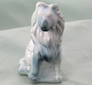 Mosser Collie Dog Figurine Mixed Green n Blue Slag Glass New Ol Store Stock NOS