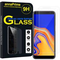 """2 Films Verre Trempe Protecteur  Écran Samsung Galaxy J6+/ J6 Plus (2018) 6.0"""""""