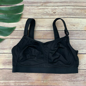 Soma Max Support Wireless Sports Bra Size 32 DD Black Workout Solid