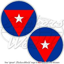 """CUBA Cuban AirForce Aircraft Roundel 75mm (3"""") Stickers Decals x2"""