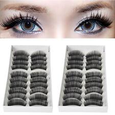 20 Pairs Black Cross False Eyelashes Makeup Natural Fake Thick Long Eye Lashes