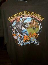 Vintage 1990 3D Emblem Harley Davidson The South Is Where Its At 50 yrs Daytona