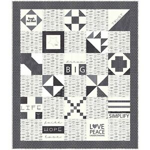 """Dream Big Quilt Kit 50"""" x 57"""" with Moda The Print Shop Fabric by Sweetwater"""